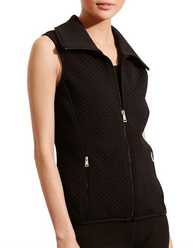 Lauren Ralph Lauren Quilted Jacquard-Knit Vest-BLACK-Medium 88662672_BLACK_Medium