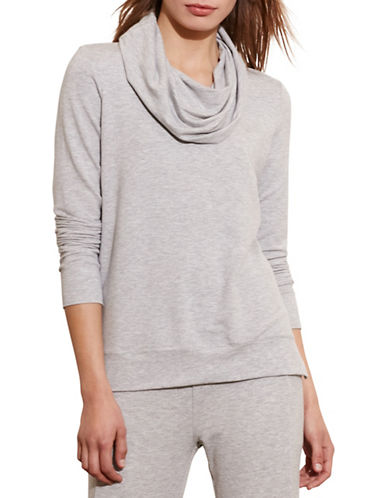 Lauren Ralph Lauren Cowl Neck French Terry Pullover-GREY-X-Large 88573284_GREY_X-Large