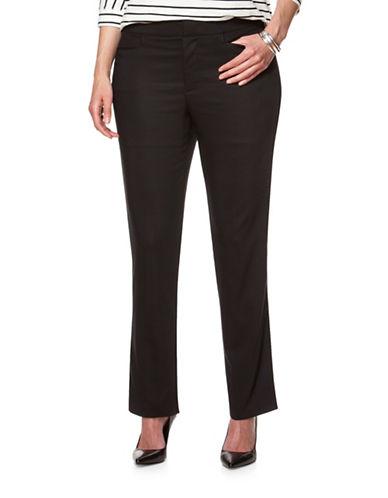 Chaps Plus Mid-Rise Stretch Pants-BLACK-16W 88681170_BLACK_16W