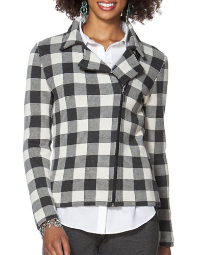 Chaps Buffalo Check Moto Jacket-GREY-Small 88778098_GREY_Small