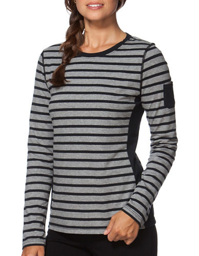 Chaps Striped Jersey T-Shirt-GREY-Large 88778110_GREY_Large