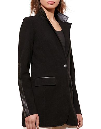 Lauren Ralph Lauren Knit Cotton-Blend Jacket-BLACK-X-Large 88661046_BLACK_X-Large