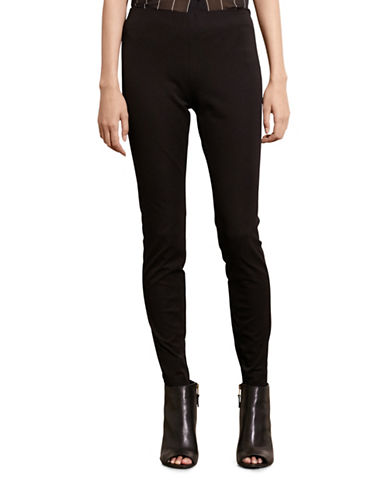 Lauren Ralph Lauren Stretch Cotton Skinny Pants-BLACK-10