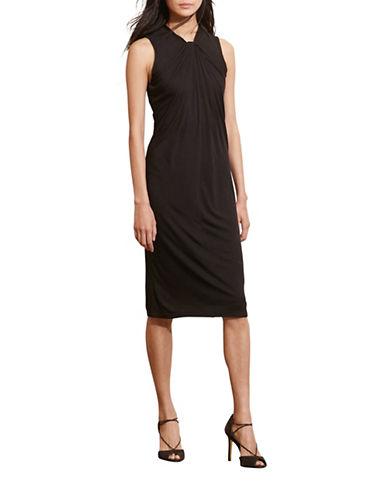 Lauren Ralph Lauren Twist-Neck Jersey Dress-BLACK-Medium 88661261_BLACK_Medium