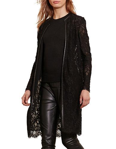 Lauren Ralph Lauren Lace Open-Front Jacket-BLACK-Large
