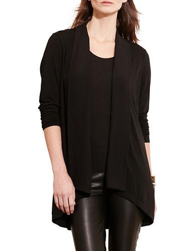 Lauren Ralph Lauren Open-Front Jersey Cardigan-BLACK-X-Small 88661393_BLACK_X-Small