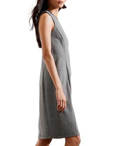 Lauren Ralph Lauren Plus Herringbone Sheath Dress-BLACK/CREAM-3X 88575379_BLACK/CREAM_3X