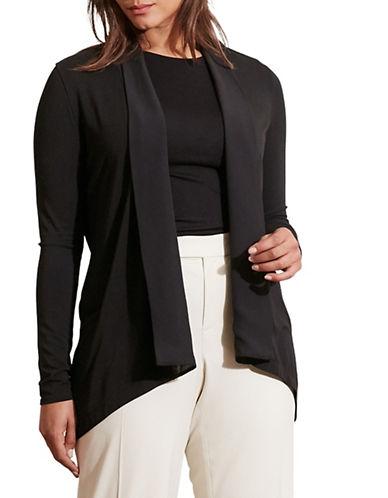 Lauren Ralph Lauren Plus Open-Front Jersey Cardigan-BLACK-3X 88575412_BLACK_3X