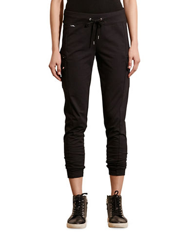 Lauren Ralph Lauren French Terry Cargo Pant-BLACK-X-Small 88573250_BLACK_X-Small