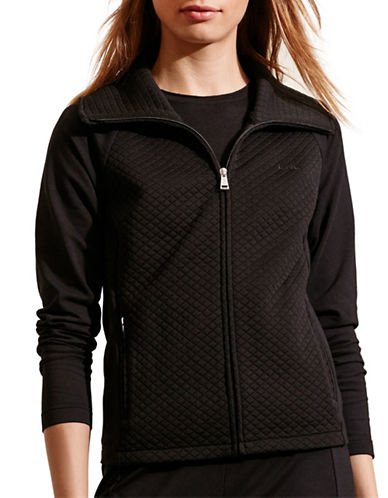 Lauren Ralph Lauren Quilted Stretch Jacket-BLACK-Medium 88573252_BLACK_Medium
