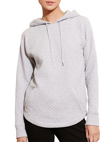 Lauren Ralph Lauren Quilted Cotton-Blend Hoodie-GREY-Large 88662676_GREY_Large