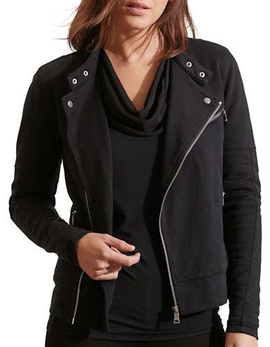 Lauren Ralph Lauren French Terry Moto Jacket-BLACK-X-Large 88660241_BLACK_X-Large