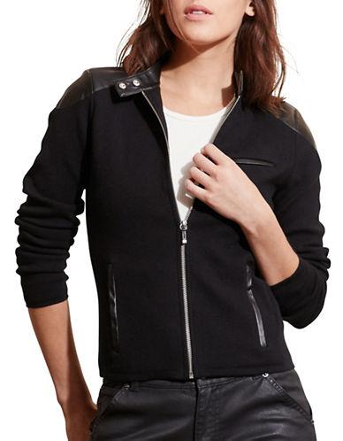 Lauren Ralph Lauren Stretch Cotton Moto Jacket-BLACK-X-Large 88660340_BLACK_X-Large