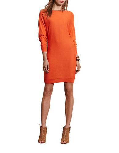 Lauren Ralph Lauren Silk-Blend Dolman-Sleeve Dress-ORANGE-X-Large 88571560_ORANGE_X-Large
