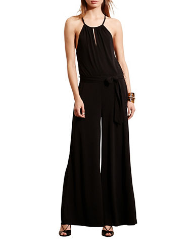 Lauren Ralph Lauren Jersey Wide-Leg Jumpsuit-BLACK-Medium 88661418_BLACK_Medium