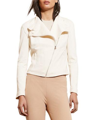 Lauren Ralph Lauren Ponte Moto Jacket-WHITE-X-Large 88571399_WHITE_X-Large