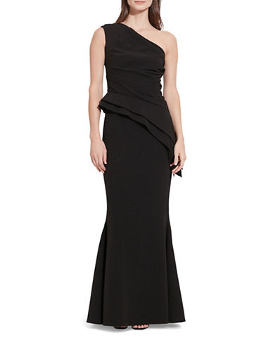Lauren Ralph Lauren One-Shoulder Gown-BLACK-16