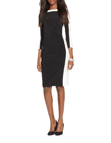 Lauren Ralph Lauren Colourblock Jersey Dress-MULTI-8