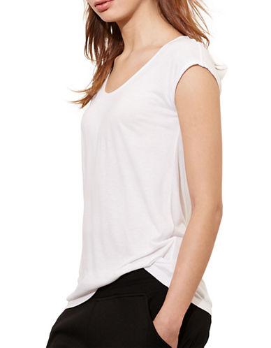 Lauren Ralph Lauren Jersey Scoop Neck Tee-WHITE-X-Large 88662689_WHITE_X-Large