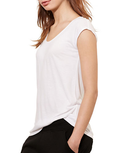 Lauren Ralph Lauren Scoop Neck Jersey Tee-WHITE-Medium 88573301_WHITE_Medium