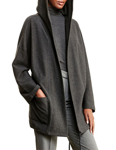 Lauren Ralph Lauren Cotton Shawl-Collar Cardigan-GREY-X-Large 88741542_GREY_X-Large