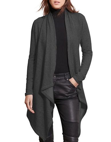 Lauren Ralph Lauren Open-Front Cardigan-BLACK-Medium 88741514_BLACK_Medium