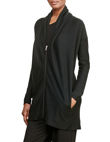 Lauren Ralph Lauren Jacquard-Knit Cotton Cardigan-BLACK-Medium 88741519_BLACK_Medium