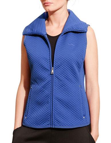 Lauren Ralph Lauren Quilted Jacquard-Knit Vest-BLUE-Small 88741531_BLUE_Small