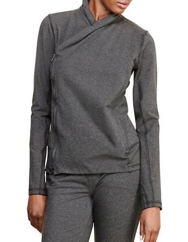 Lauren Ralph Lauren Asymmetrical Zip Jersey Jacket-GREY-Medium 88741545_GREY_Medium