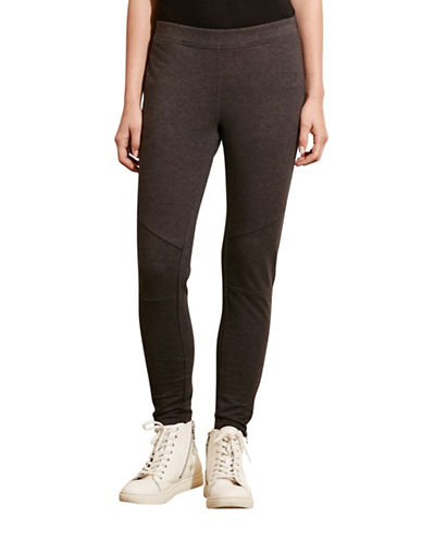 Lauren Ralph Lauren Panelled Stretch Cotton Leggings-GREY-Medium 88741557_GREY_Medium