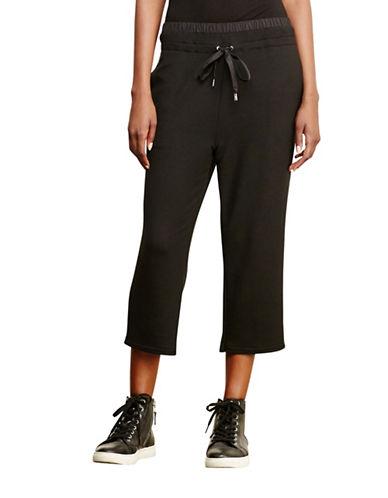 Lauren Ralph Lauren Cropped Drawstring Pants-BLACK-X-Large 88741564_BLACK_X-Large