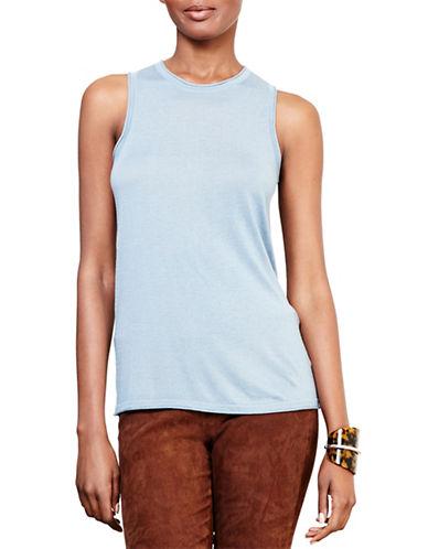 Lauren Ralph Lauren Silk-Blend Sleeveless Sweater-BLUE-Medium 88742007_BLUE_Medium