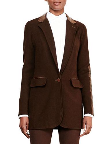 Lauren Ralph Lauren Knit Cotton-Blend Jacket-BROWN-Large 88742041_BROWN_Large