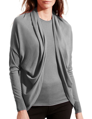 Lauren Ralph Lauren Silk-Blend Cardigan-GREY-Small/Medium 88742138_GREY_Small/Medium