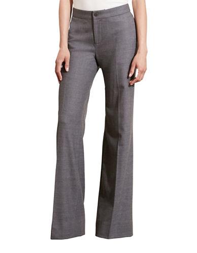 Lauren Ralph Lauren Stretch Wool Flared Pants-GREY-8 88742173_GREY_8