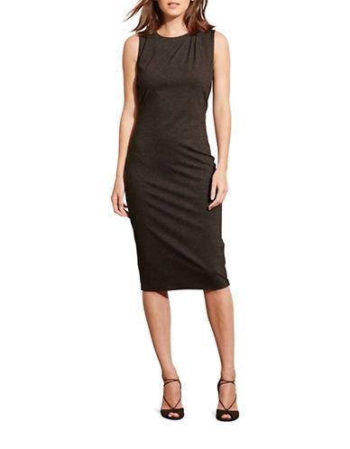 Lauren Ralph Lauren Pleated-Shoulder Ponte Dress-GREY-Medium 88742230_GREY_Medium