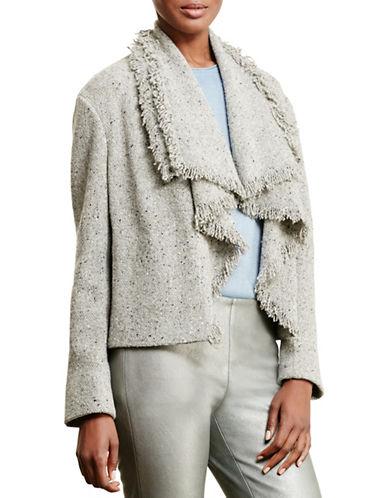 Lauren Ralph Lauren Fringed Wool-Blend Jacket-GREY-Small 88742251_GREY_Small