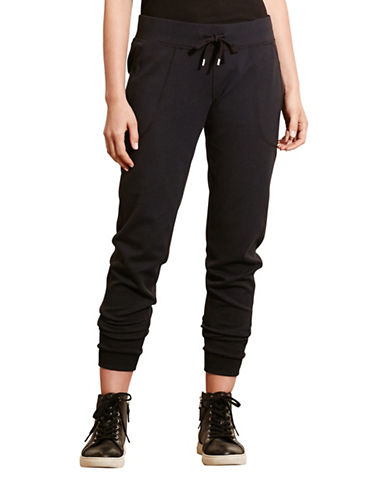 Lauren Ralph Lauren French Terry Jogger Pants-BLACK-Large 88741505_BLACK_Large