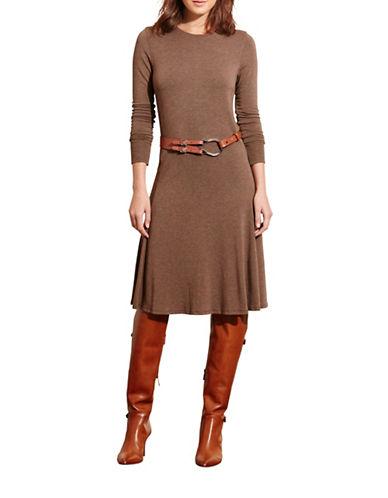 Lauren Ralph Lauren French Terry Dress-BROWN-X-Large 88739809_BROWN_X-Large