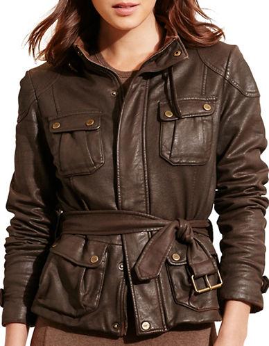 Lauren Ralph Lauren Waxed Stretch Cotton Jacket-BROWN-Large 88739811_BROWN_Large