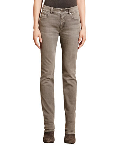 Lauren Ralph Lauren Premier Stretch Straight Jeans-GREY-10 88739815_GREY_10