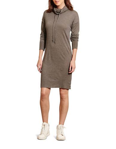 Lauren Ralph Lauren Jersey Funnel Neck Dress-GREY-Large 88739859_GREY_Large