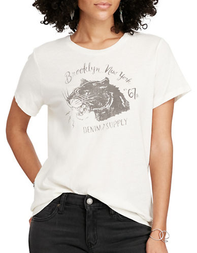 Denim & Supply Ralph Lauren Graphic Printed Cotton T-Shirt-WHITE-Large 88808130_WHITE_Large