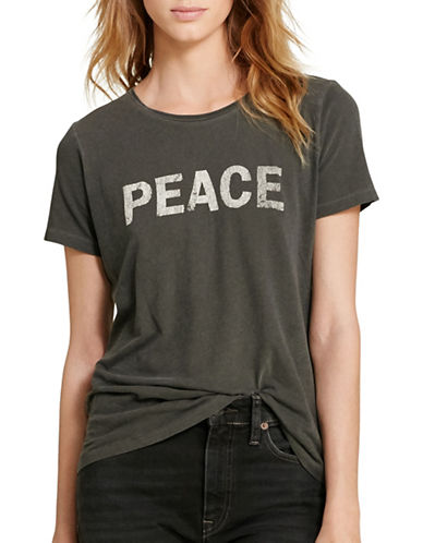 Denim & Supply Ralph Lauren Peace Cotton Jersey Tee-BLACK-Medium 88808136_BLACK_Medium