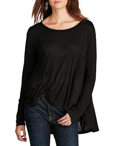 Denim & Supply Ralph Lauren Lace Trimmed Slub Jersey Relaxed-Fit Top-BLACK-Medium 88879731_BLACK_Medium