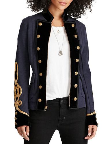 Denim & Supply Ralph Lauren Velvet-Trim Military Jacket-BLUE-Small 88749901_BLUE_Small