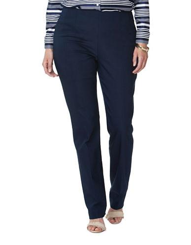 Chaps Plus Stretch Straight Pants-BLUE-18W 89054287_BLUE_18W