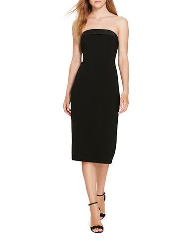 Polo Ralph Lauren Silk-Trim Tuxedo Dress-BLACK-6