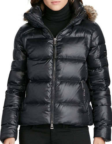 Polo Ralph Lauren Hooded Down Jacket-BLACK-Small 88786484_BLACK_Small