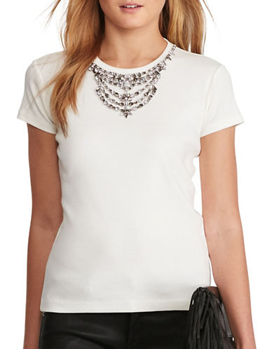 Polo Ralph Lauren Jewel Neck Tee-WHITE-Large 88786424_WHITE_Large